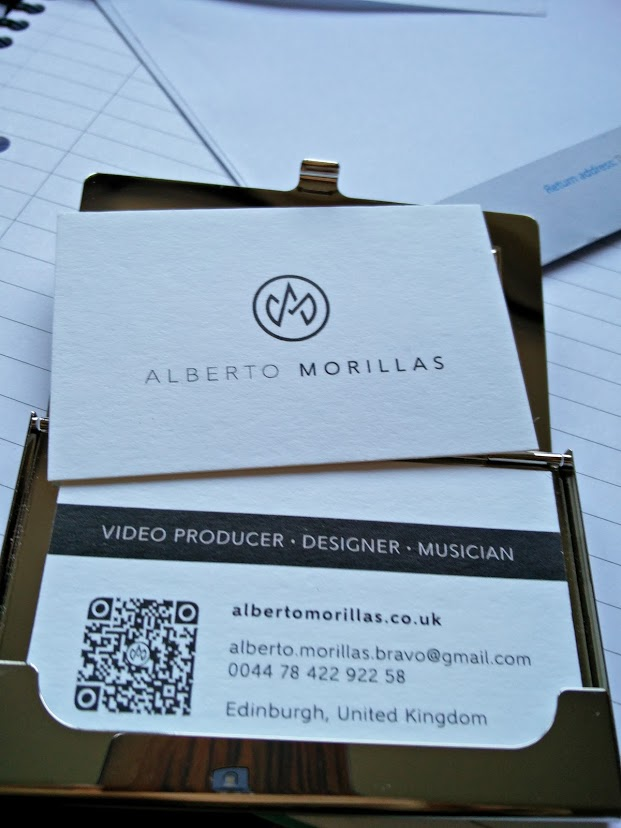 Design video producer alberto morillas business cards reheart Images